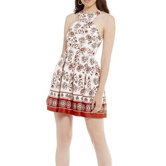 85de7e1040f Dillard s Boho Floral Patterned Skater Dress